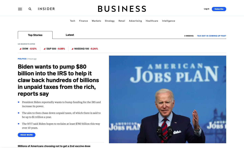 Business Insider webpage screenshot