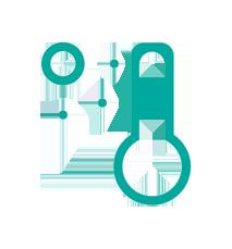 icon representing a thermometer to show sensors track temperature data