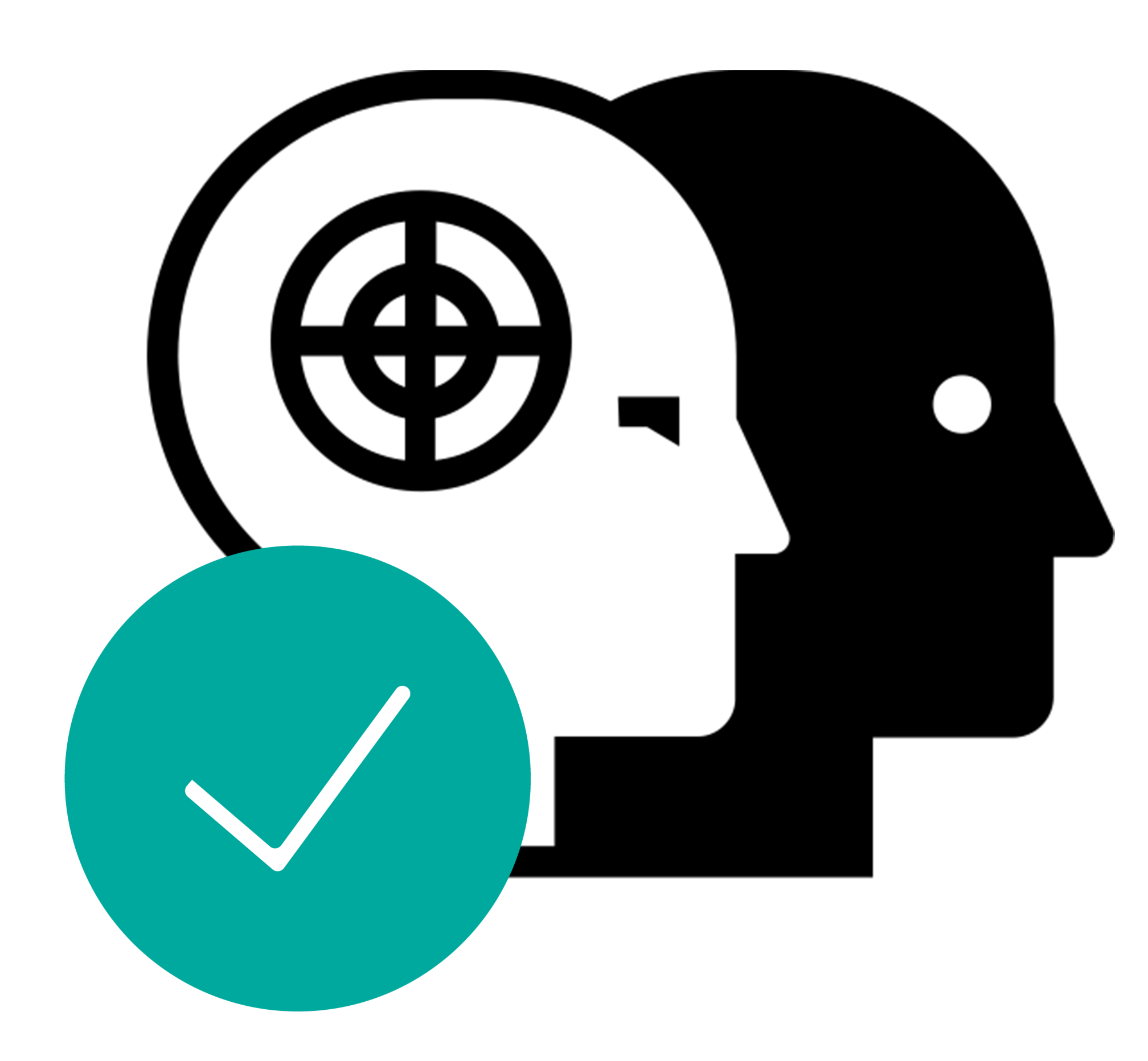 digital twin icon and green check