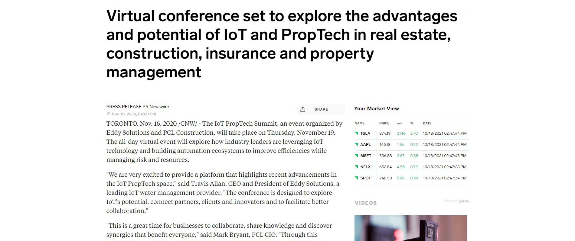 preview of the article about a virtual conference set to explore proptech and sustainability