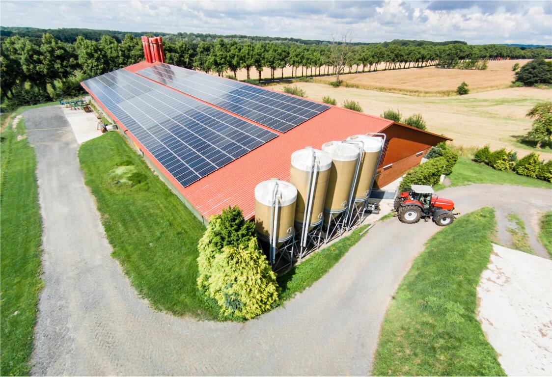 Instalacja fotowoltaiczną w gospodarstwie rolnym - Ineron