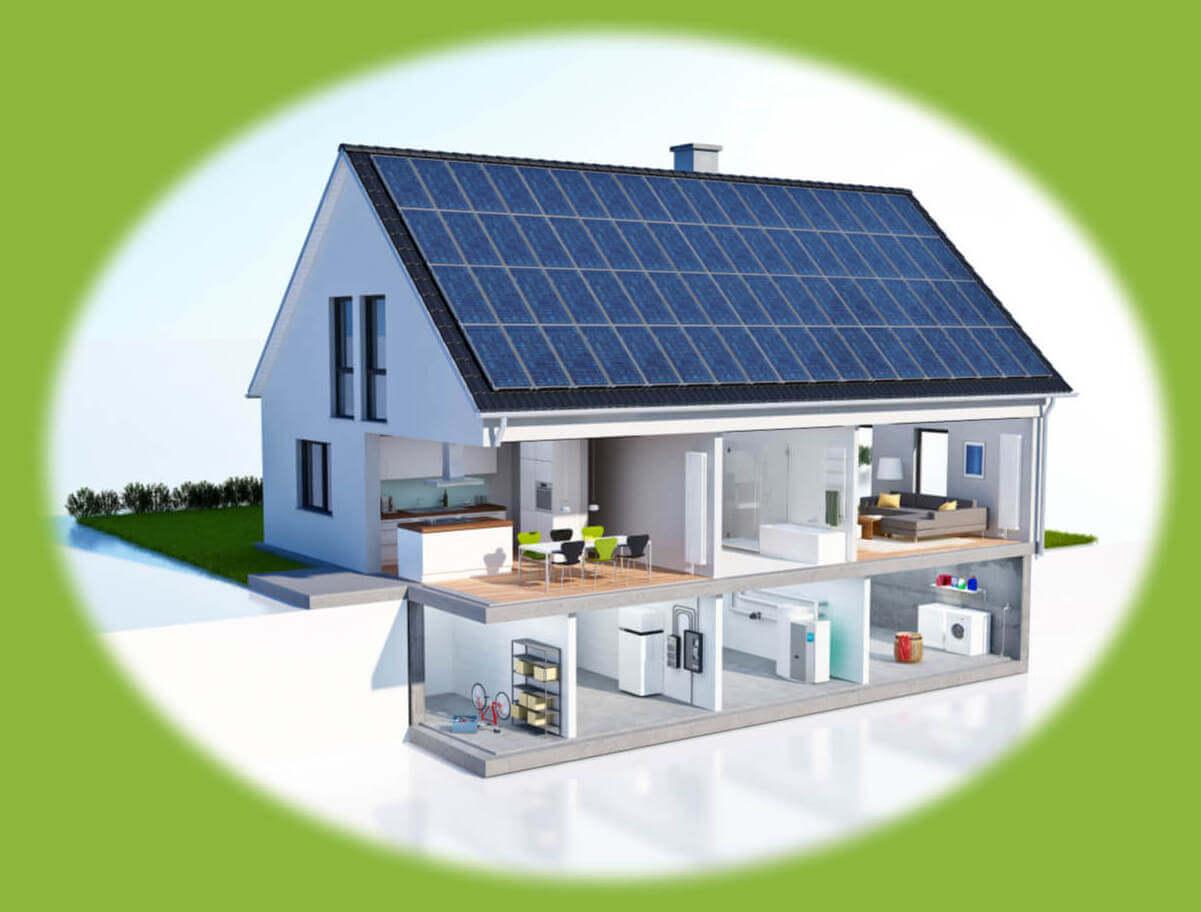 Plan domu z instalacją energii odnawialnych