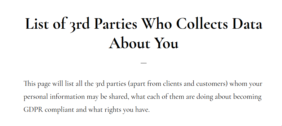 Blog screenshot of 3rd party tools who collects data about you