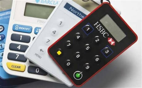 Different online banking card readers from different banks