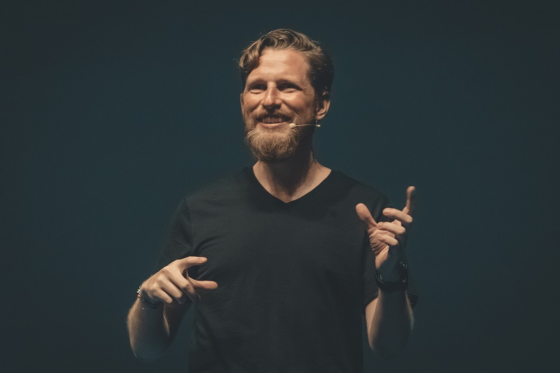 Matt Mullenweg speaking at WordCamp Europe 2018