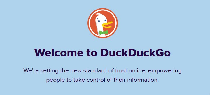 Screenshot of DuckDuckGo's about page