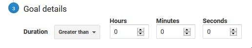 screenshot of duration goal