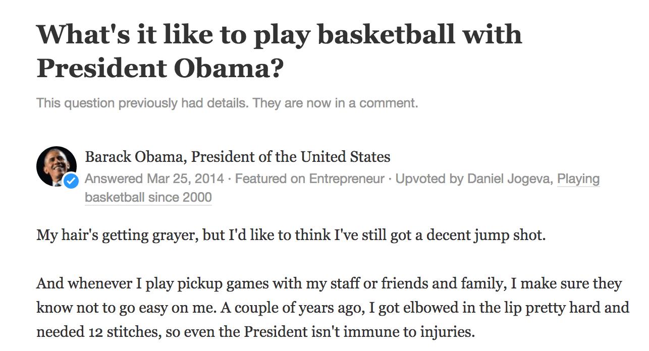 Barack Obama's answer