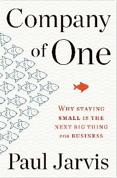 Front cover of 'Company of One' book by Paul Jarvis (alternative version)