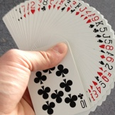 Me fanning a decl of cards