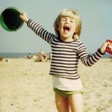 Me as a child on the beach