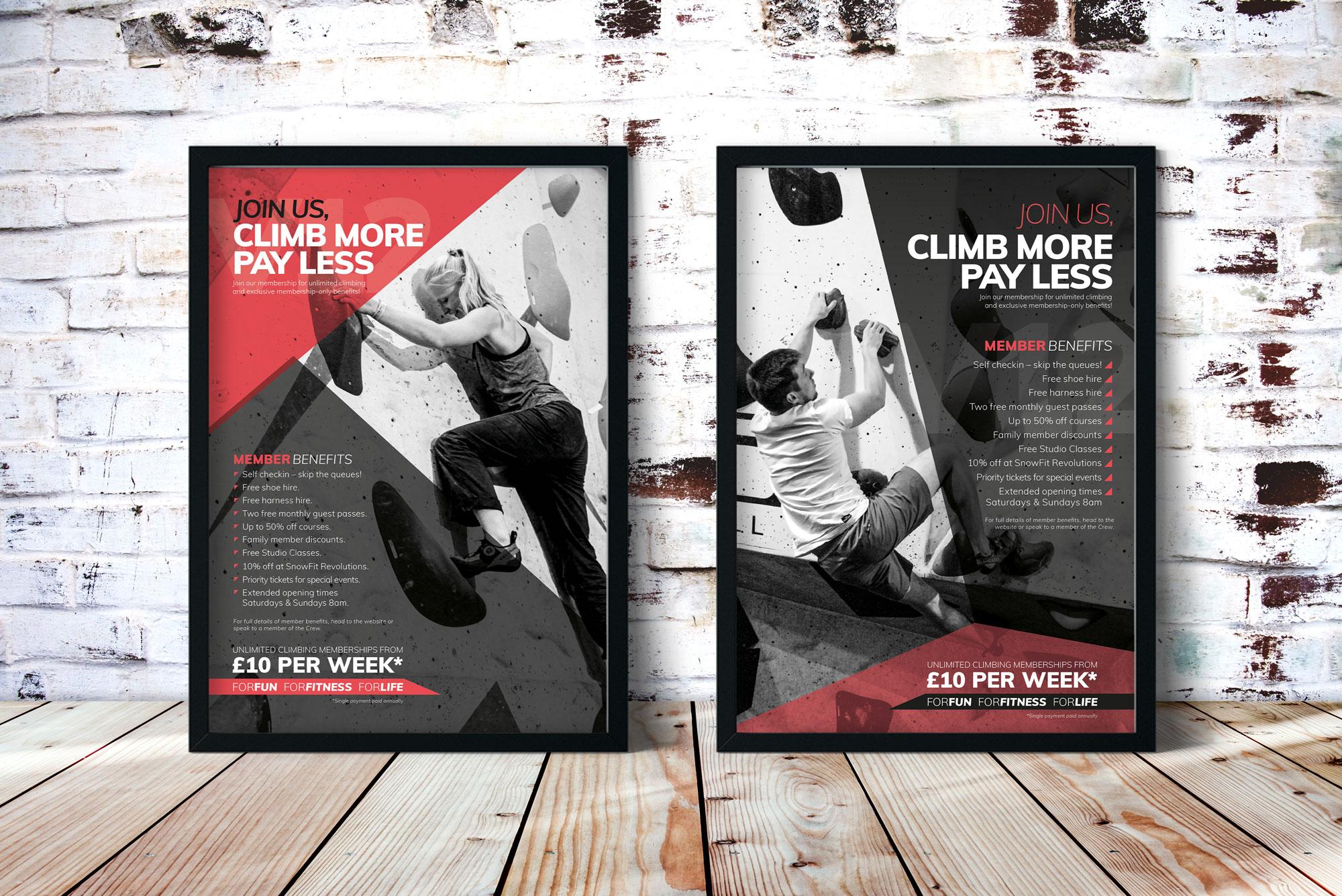 Highball climbing even poster designs