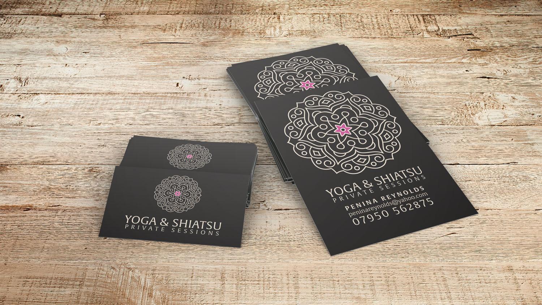 Yoga & shiatsu business card and flyer design