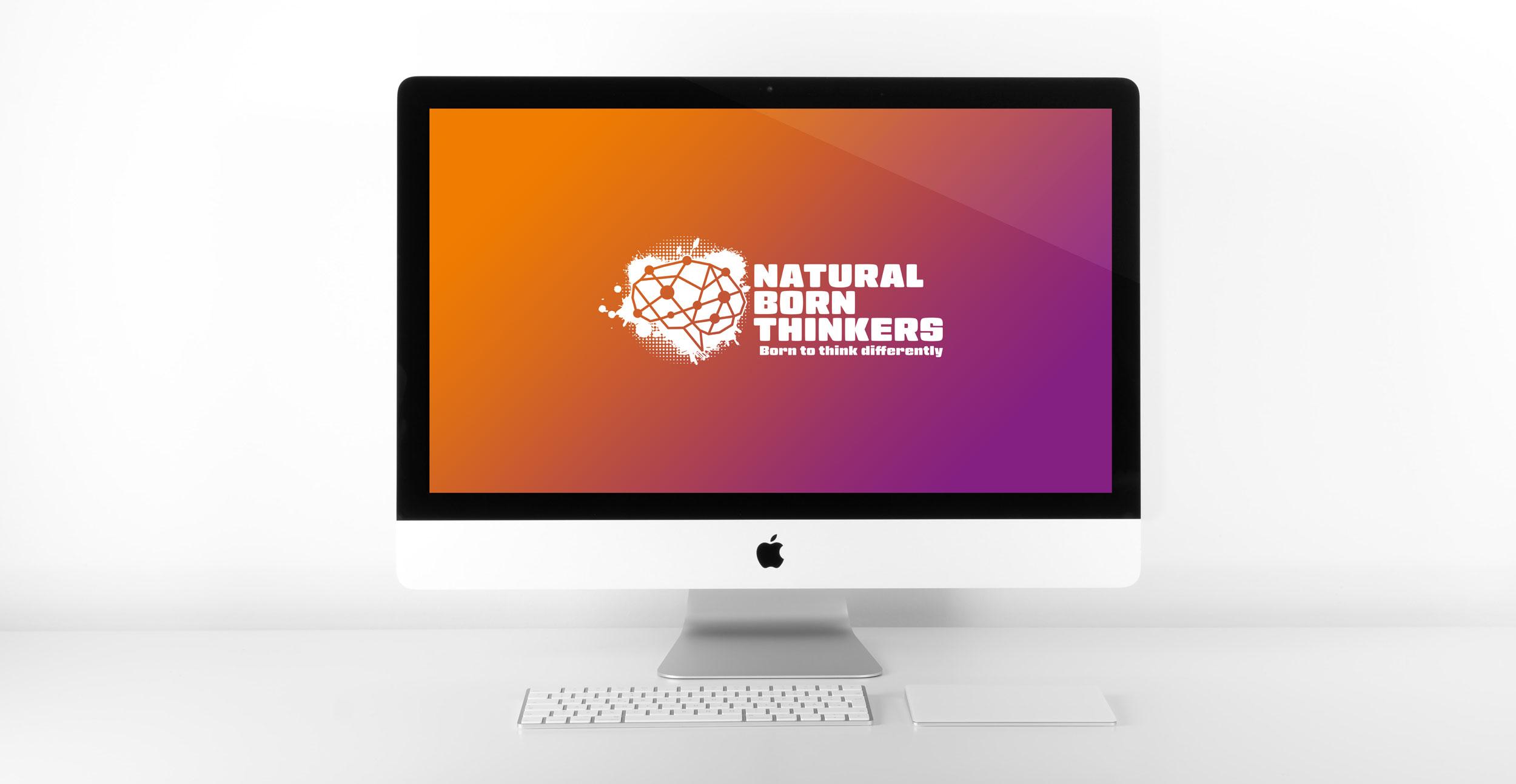 Natural Born Thinkers Logo Design by Carl Gamble