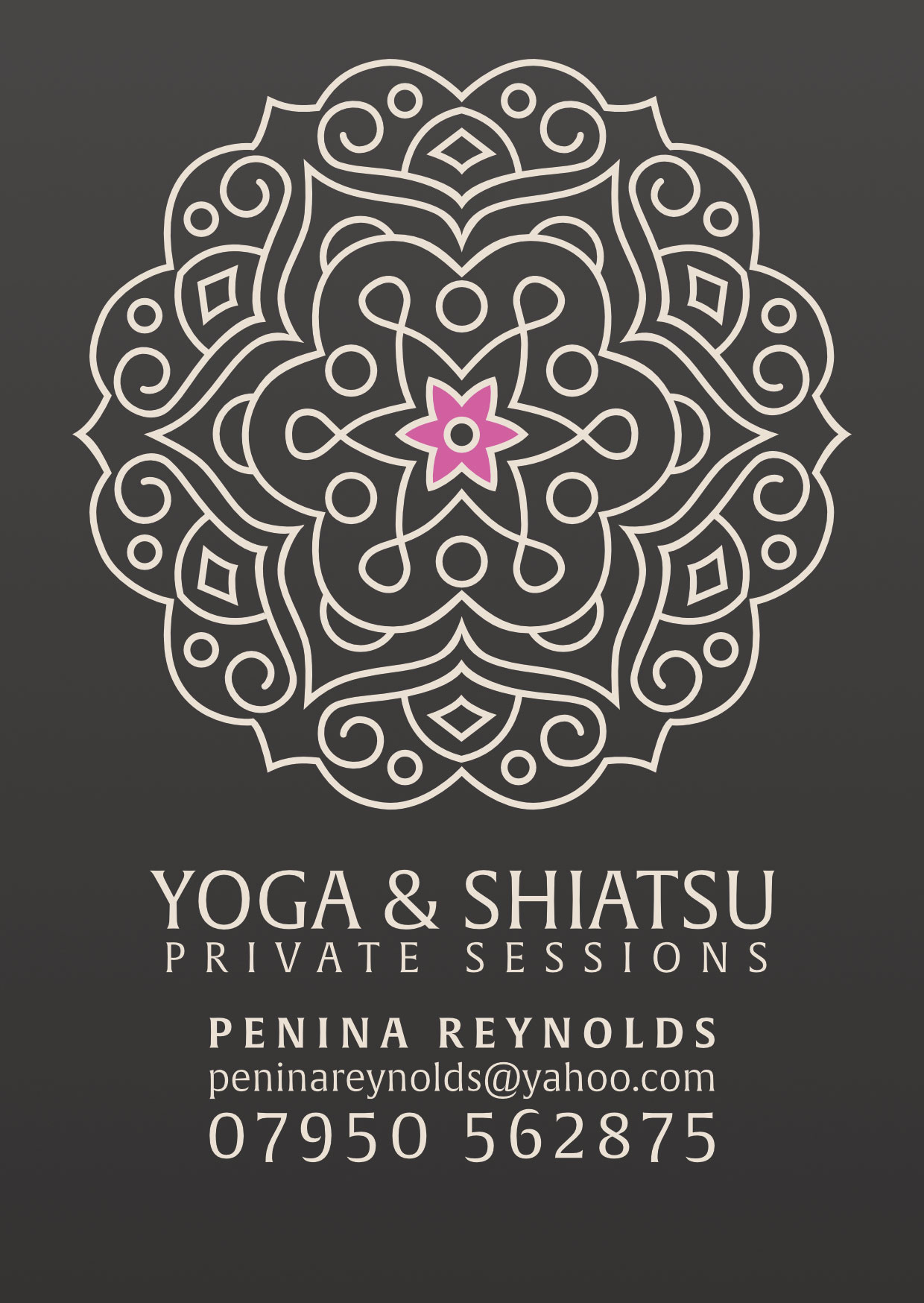 Yoga & shiatsu flyer design
