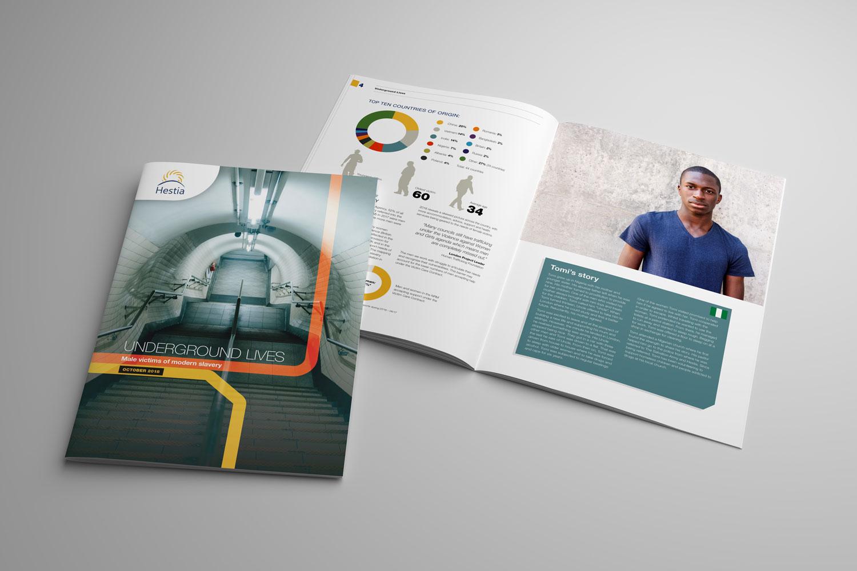 Modern slavery report design for print