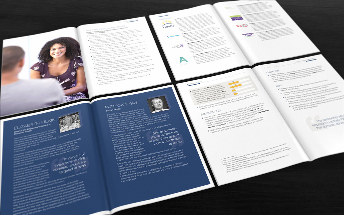 Hestia report design inside pages