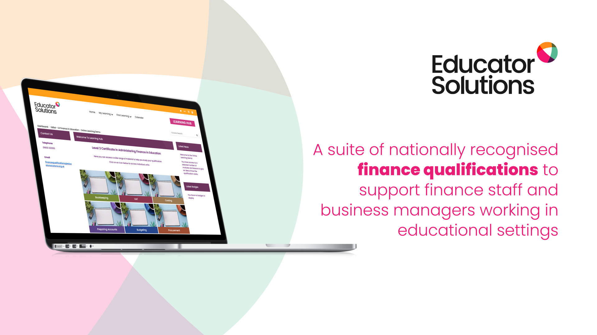 Educator finance motion graphic still