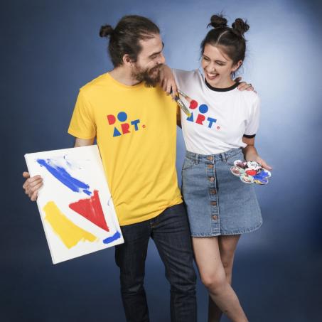 Lost Shapes DO ART organic ringer t-shirt for men/ unisex and  DO ART organic yellow t-shirt for men/ unisex