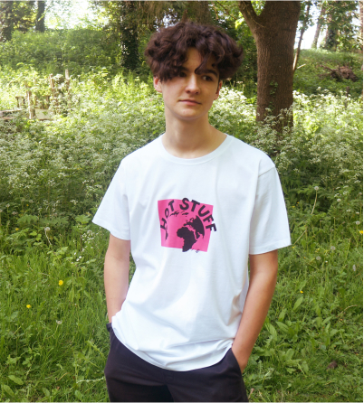 Lost Shapes Hot Stuff organic t-shirt for men/unisex in white
