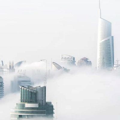 Vista da skyline de Dubai