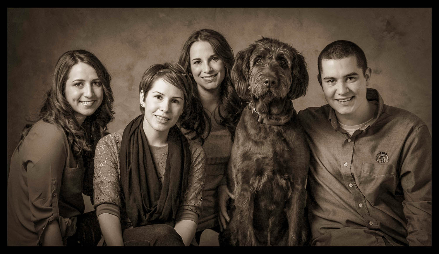Family Portrait Session with a Dog by Will Crockett