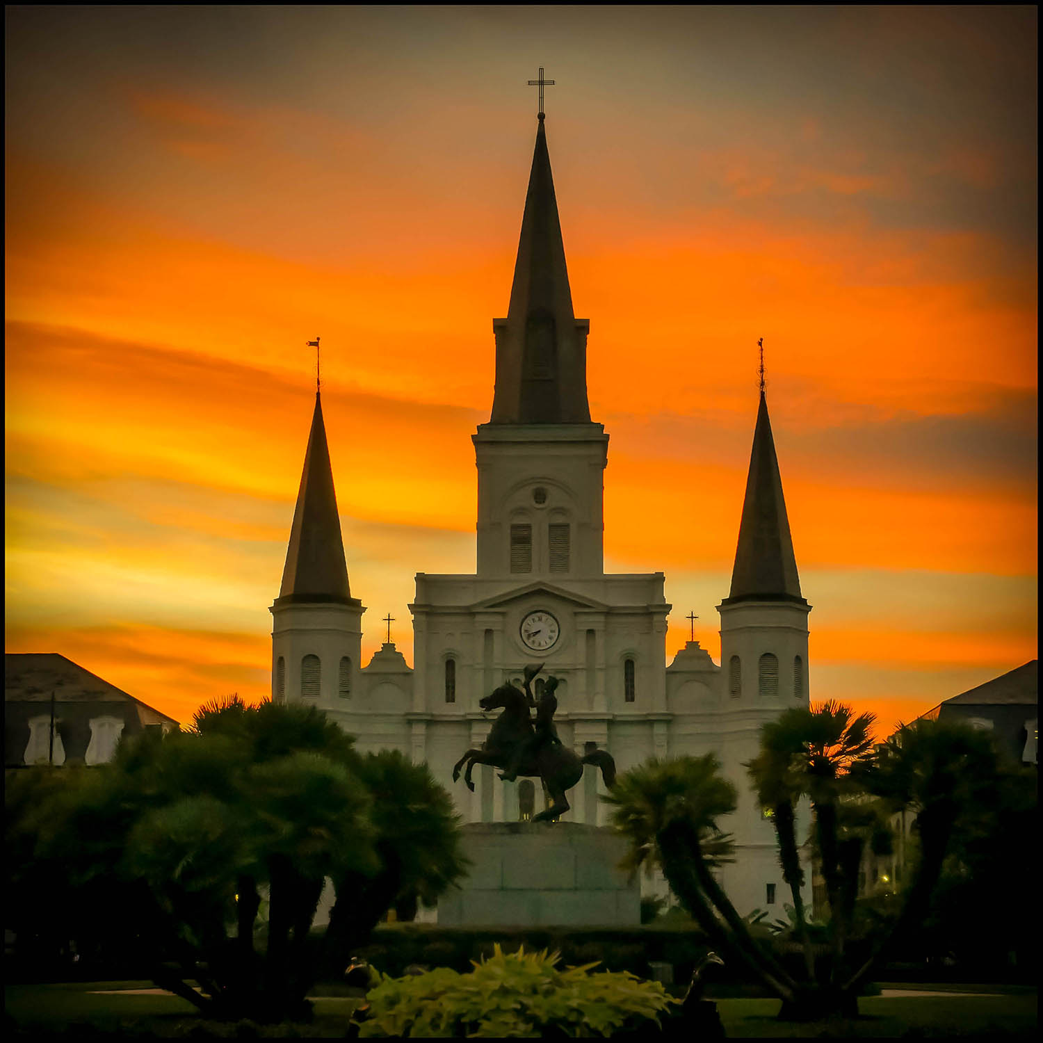 Jackson Square, New Orleans by Will Crockett