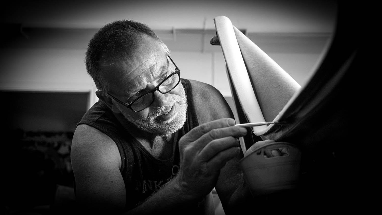 Legenday Car Restorer Stitch Gent photographed by Will Crockett