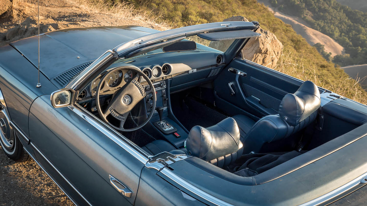 Rare 1972 Mercedes 350SL photographed by Will Crockett in Paso Robles, CA