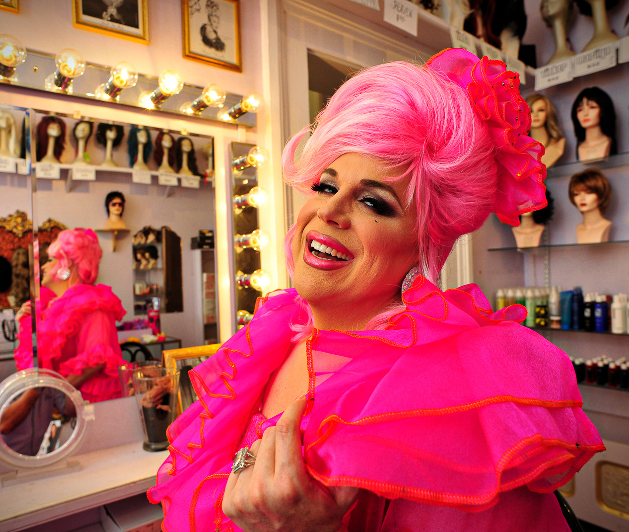 Portrait of Cabaret Performer Rhota Dendron by Will Crockett