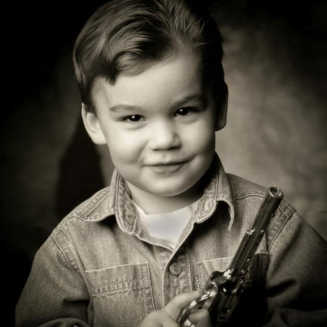 Child as Superman by Will Crockett