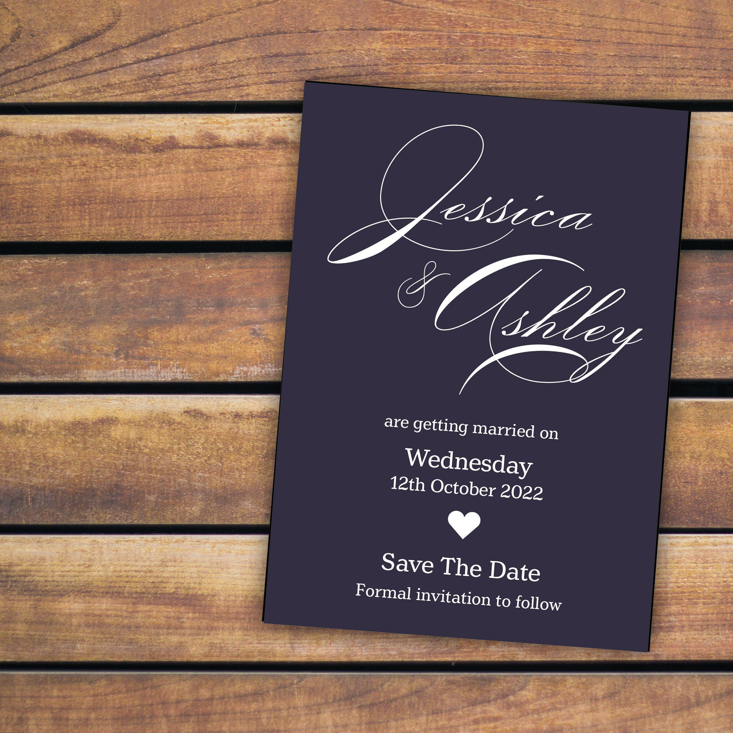 Navy Blue with White Ink Classic Decorative
