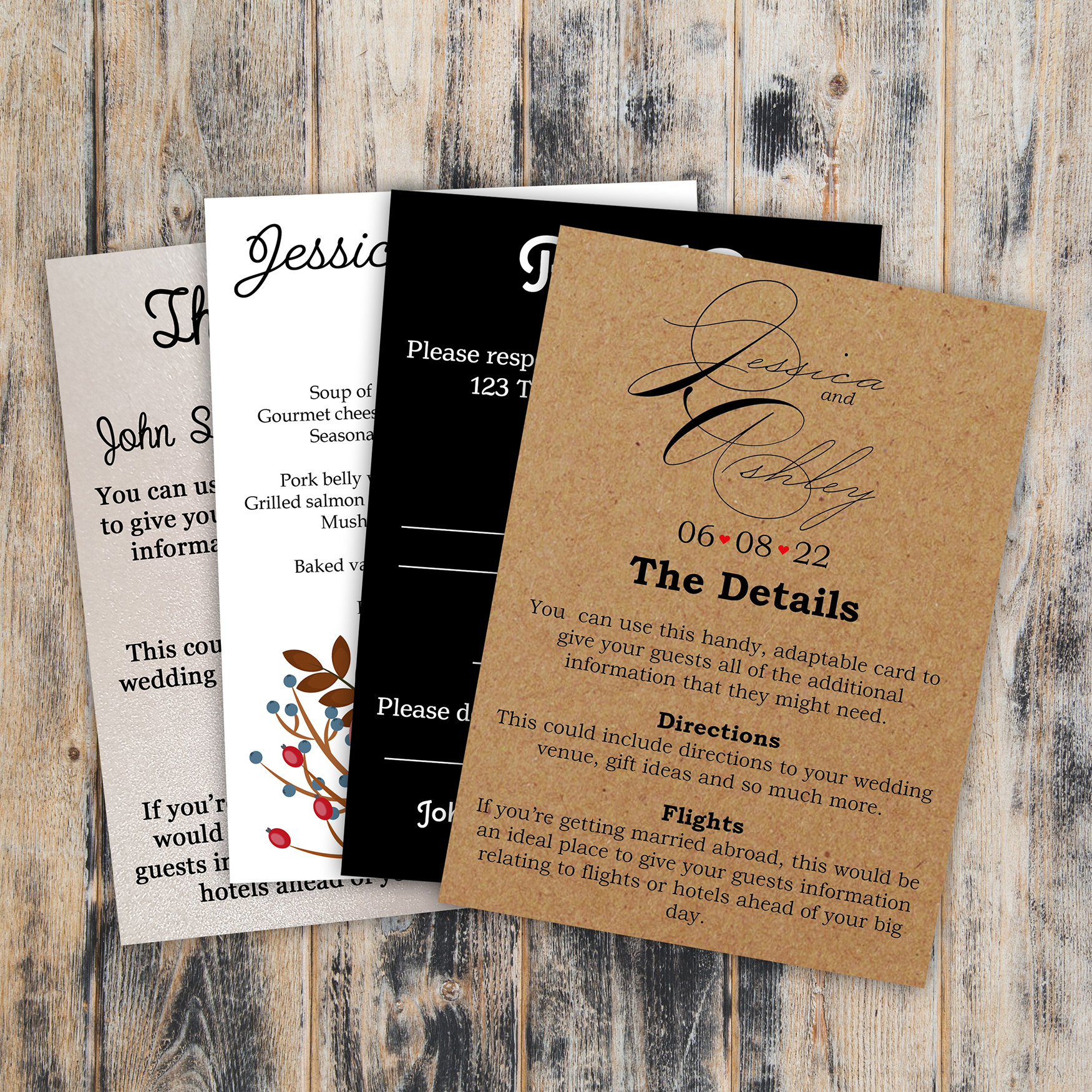 What Inserts Should I Include with my Wedding Invites?