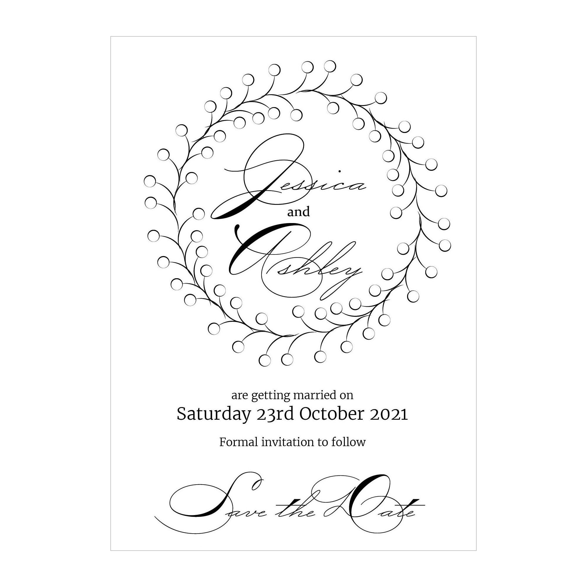 Recycled White Rustic Floral Save the Date Cards