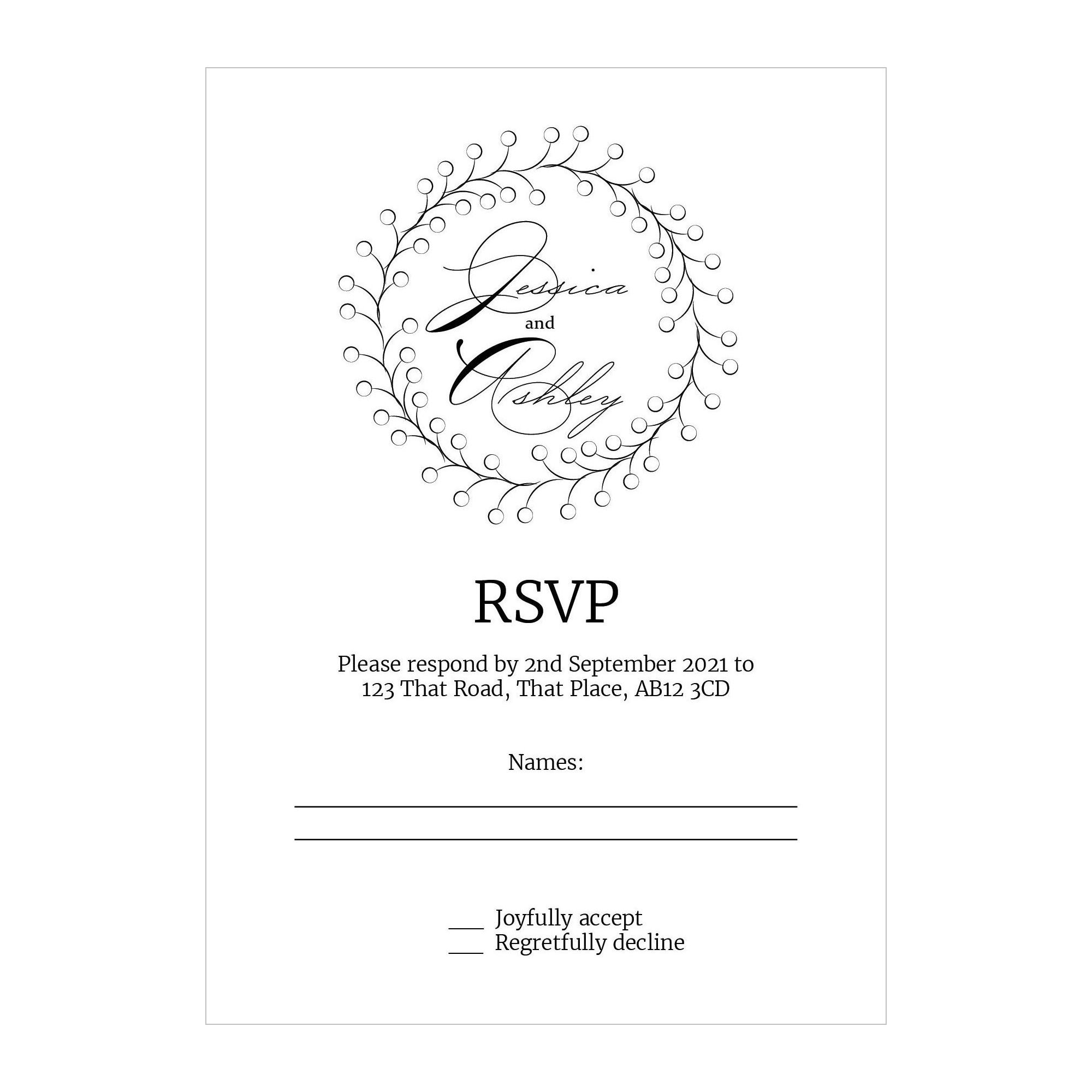 Recycled White Rustic Floral RSVP Cards