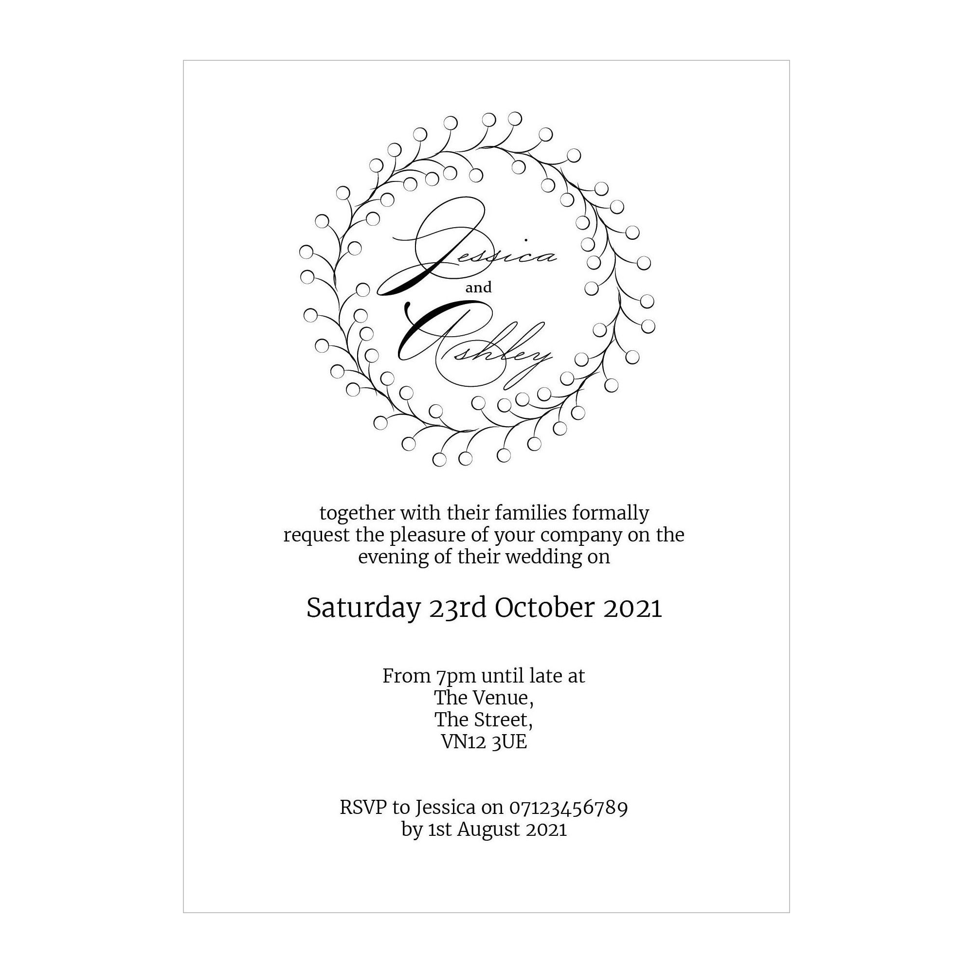 Recycled White Rustic Floral Reception Invitations