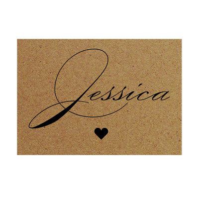 Recycled Brown Kraft Classic Swirl Decorative Flat A7 Place Names