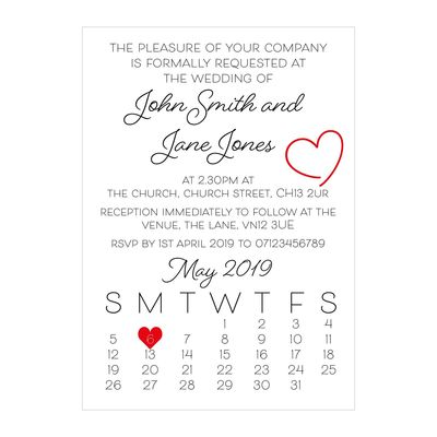 Recycled White Cute Heart Wedding Invitations