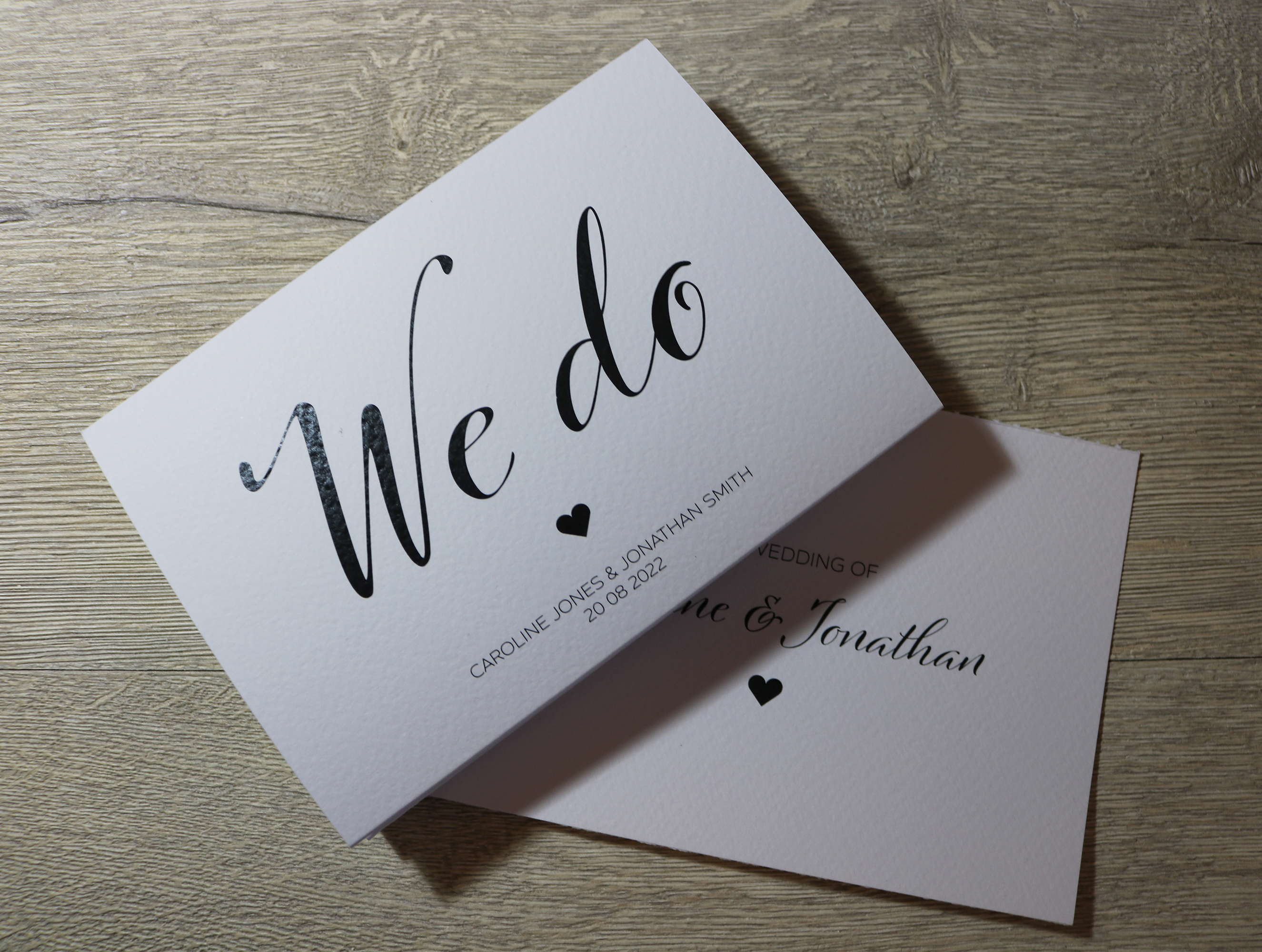 Personalised Textured White We Do Concertina Wedding Invitations A6