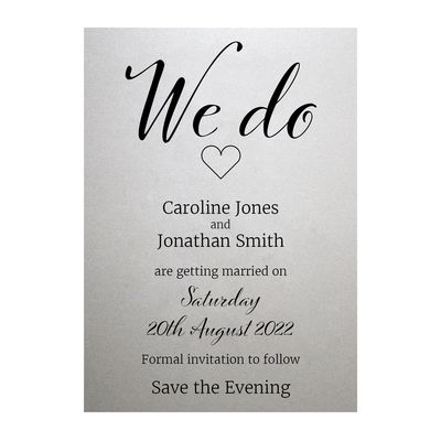 Shimmer Arctic White We Do Save the Evening Cards