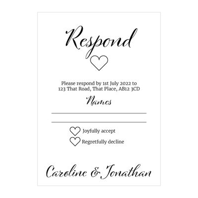 Textured White We Do RSVP Cards