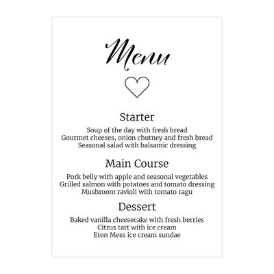 Recycled White We Do Menu Cards