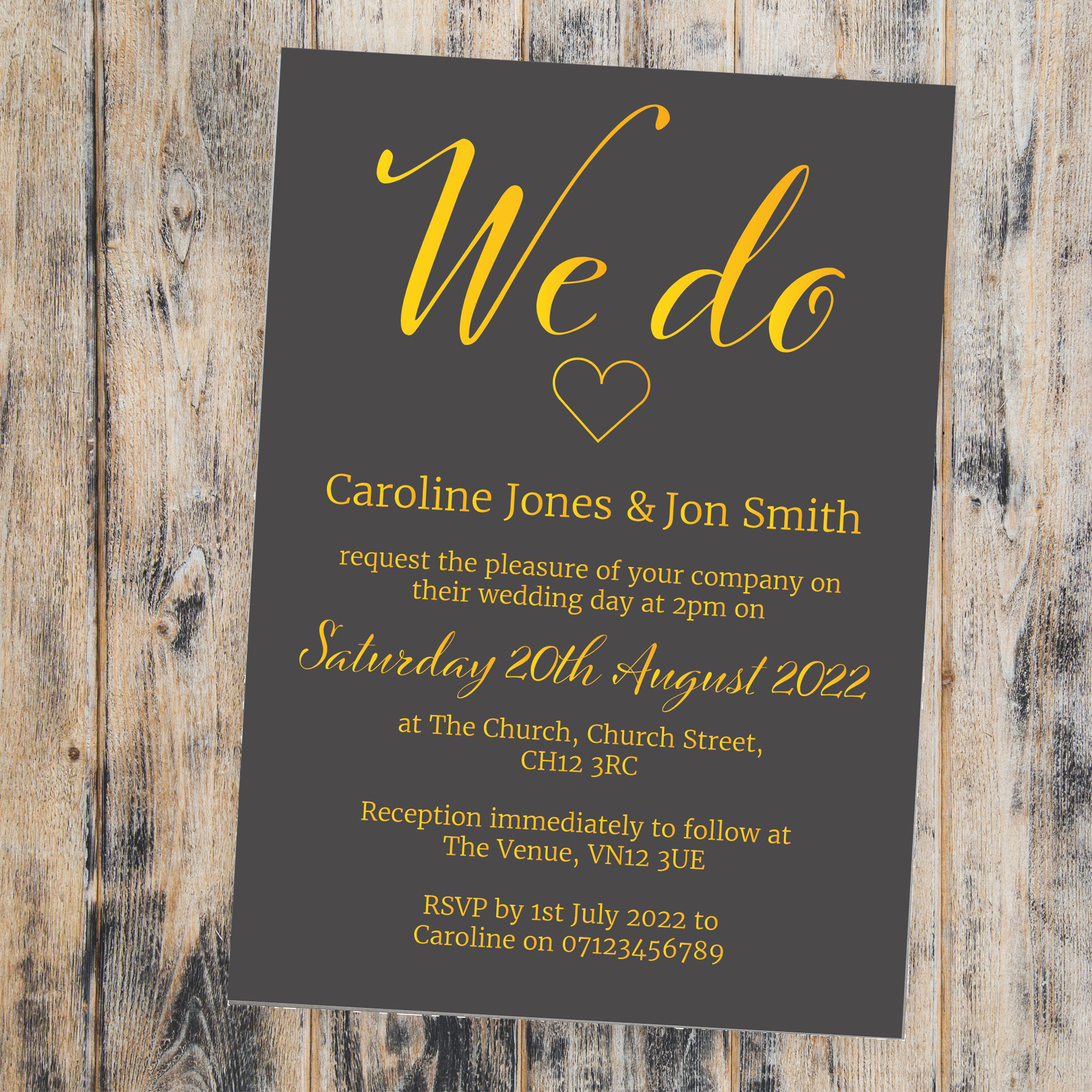 Grey & Gold Foil We Do