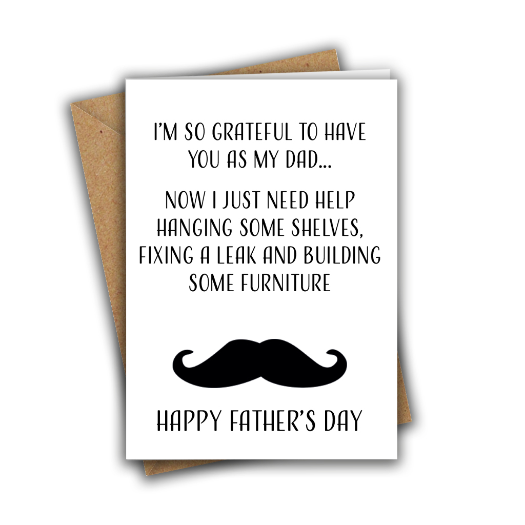 I'm So Grateful To Have You As My Dad Father's Day Greeting Card