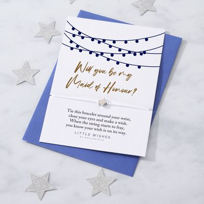 by Molly & Izzie Will You Be My Maid of Honour Star Wish Bracelet