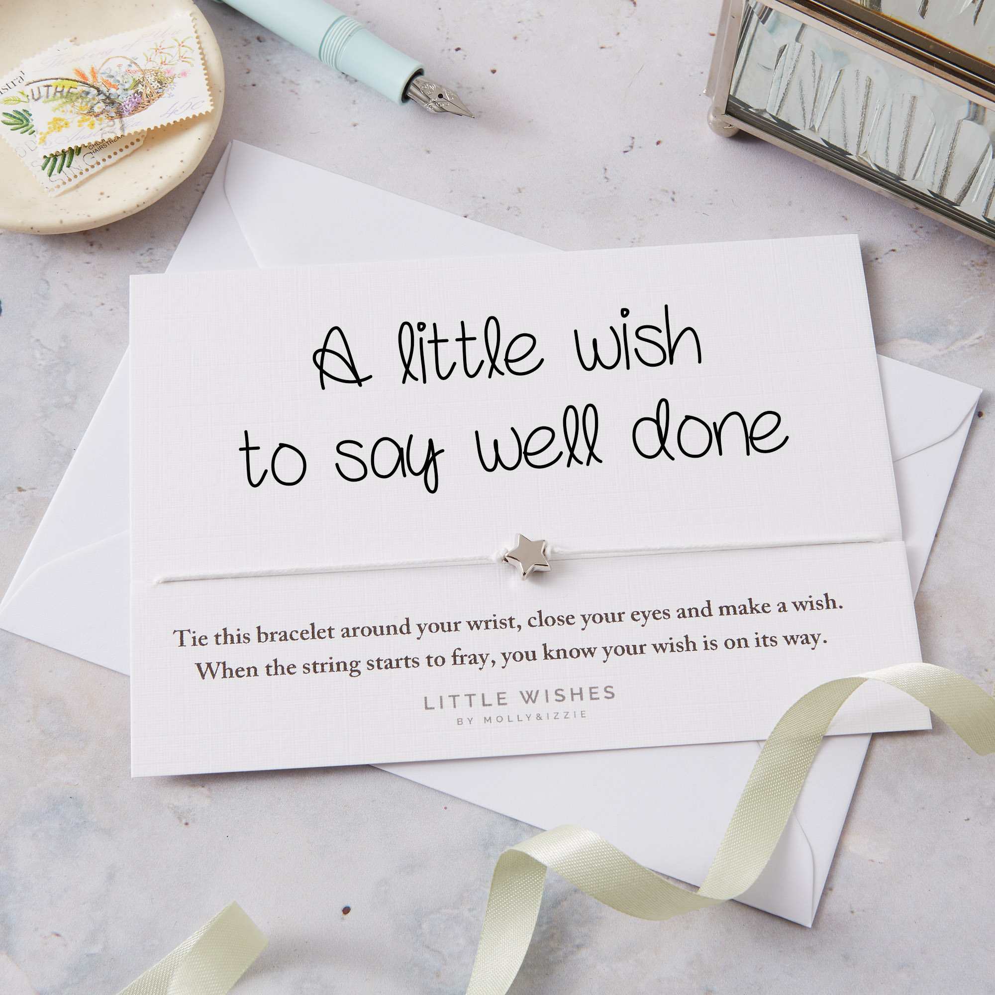 by Molly & Izzie A Little Wish to Say Well Done Star Wish Bracelet