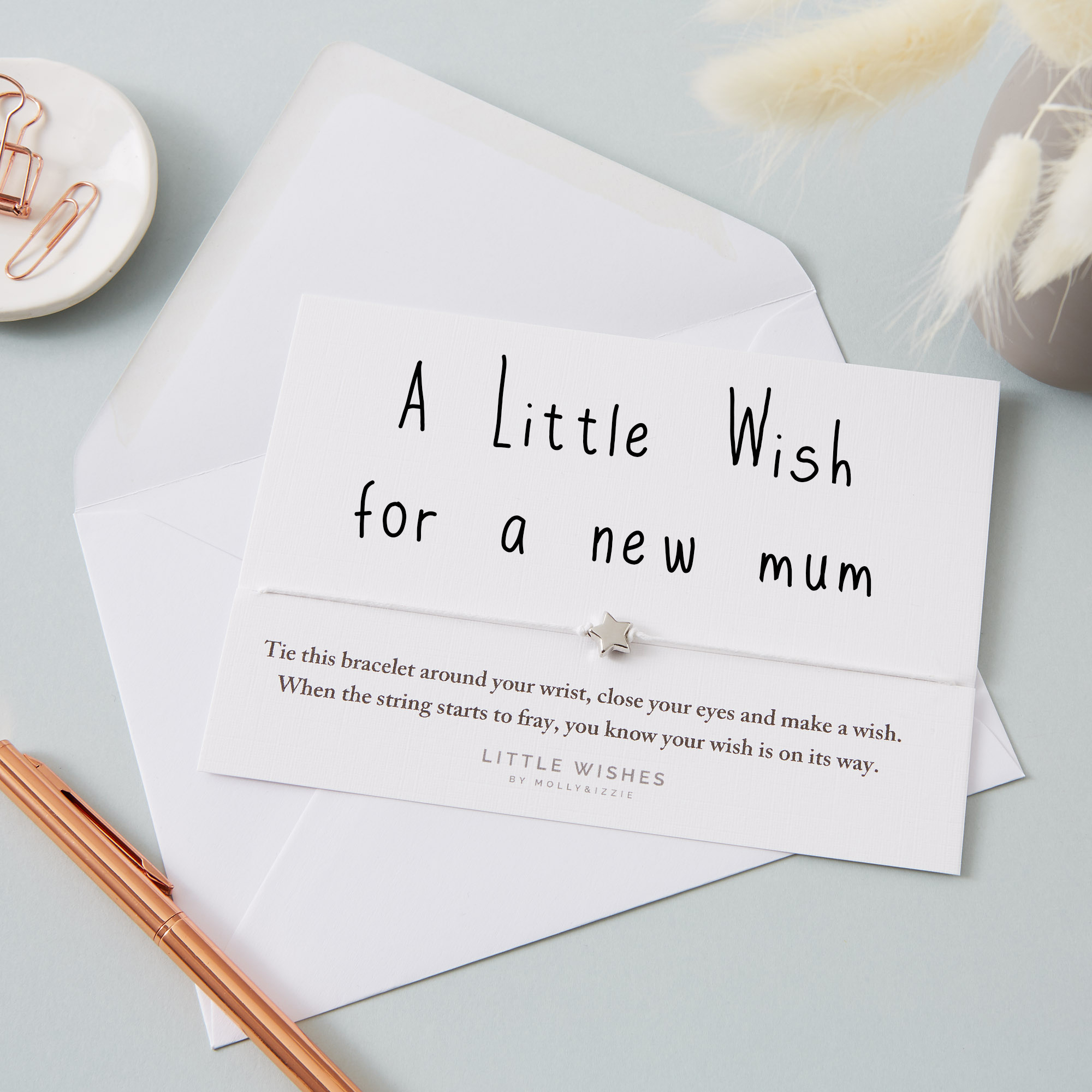 by Molly & Izzie A Little Wish For a New Mum Star Wish Bracelet