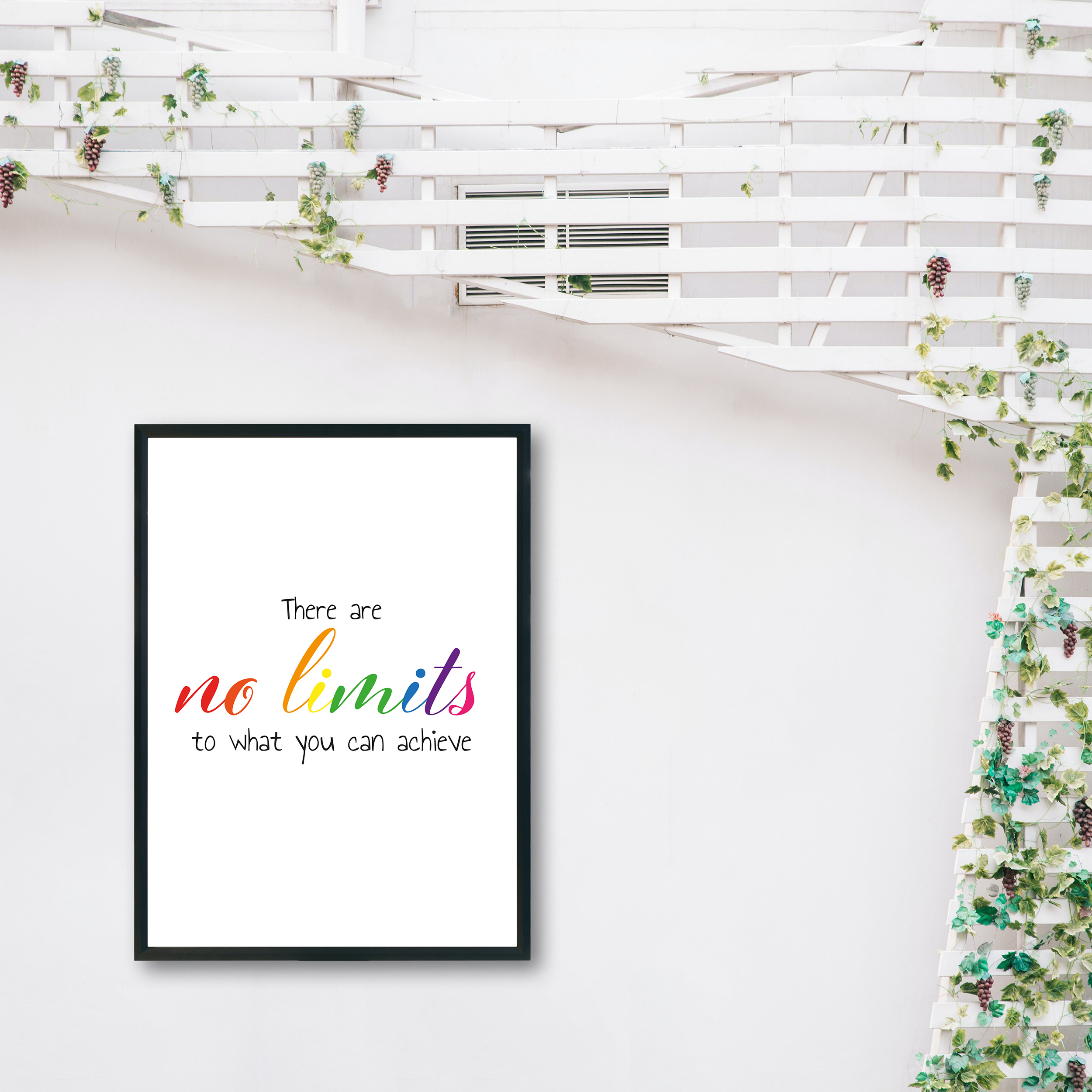 There Are No Limits to What You Can Achieve Rainbow Recycled Wall Print