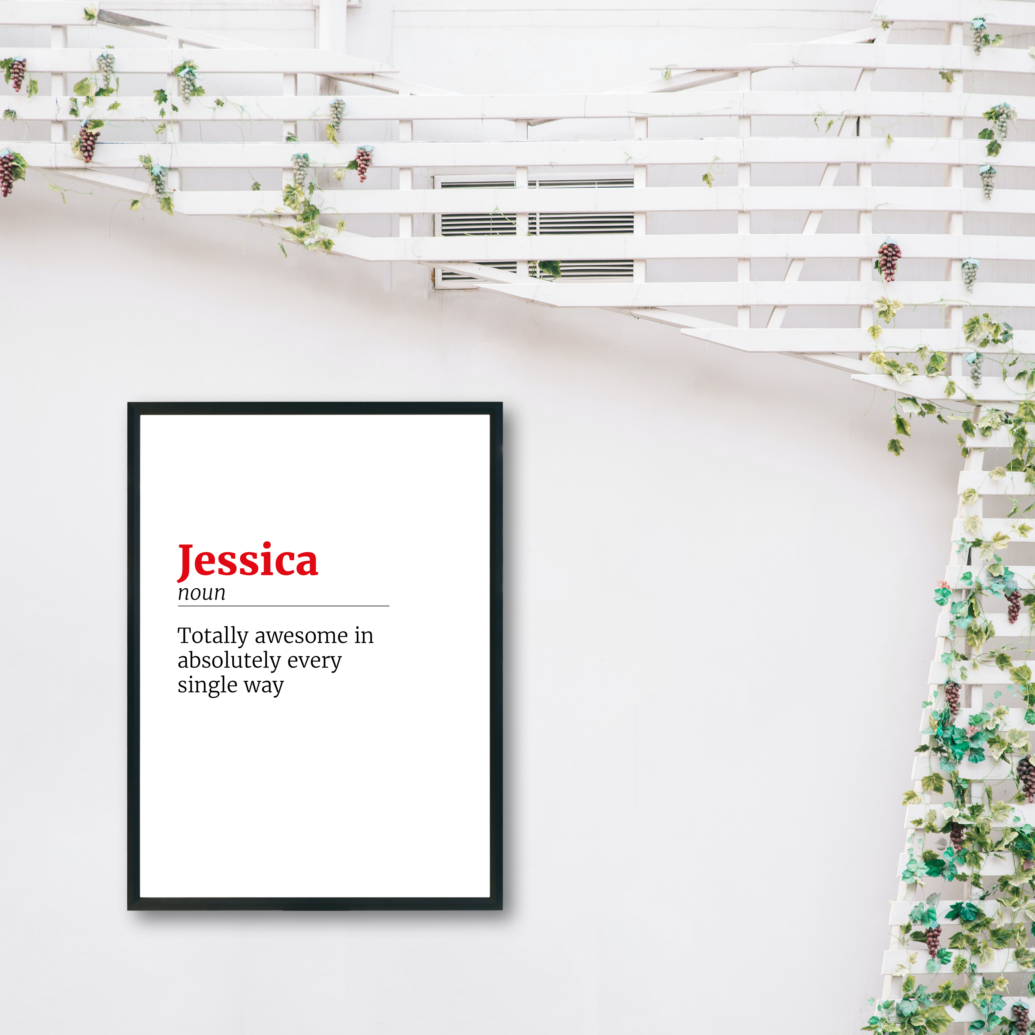 Custom Personalised Definition Name Meaning Recycled Wall Print