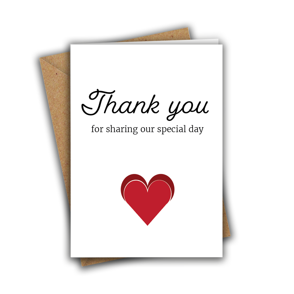 Thank You For Sharing Our Special Day A5 Greeting Card
